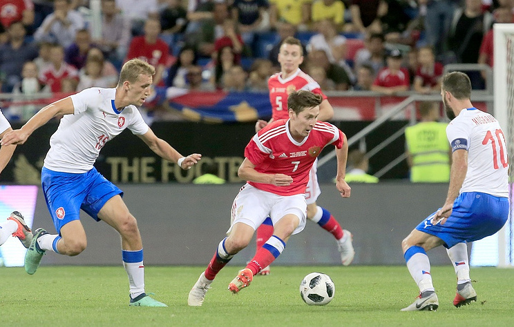 Nga 5-1 CH Séc (Giao hữu Quốc tế 2018)